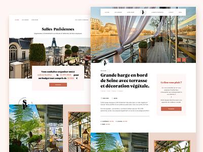 Event website natural language french event branding paris event website design booking rooms event branding site event
