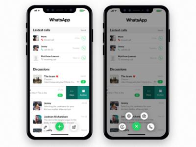 WhatsApp IphoneX