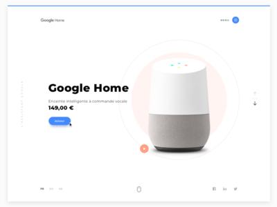 Google Home - homepage