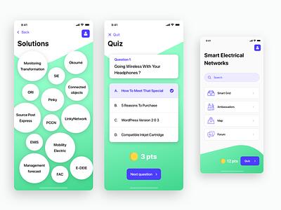 Interactive form original navigation ux files quiz networks electrical bullets green iphonex ios app design