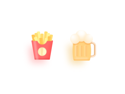 Team beer & French fries