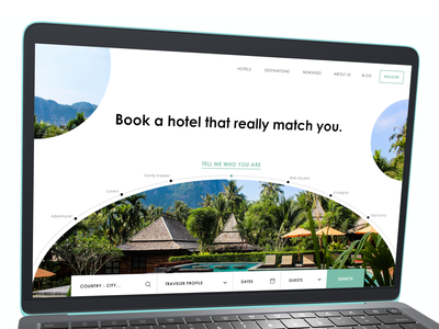 Landing Page - booking ui asia travelling hotel booking hotel homepage site design landingpage travel