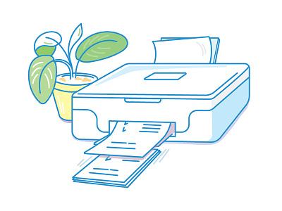 certificate print print certificate grades printer start-up illustration