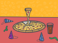 A pizza work