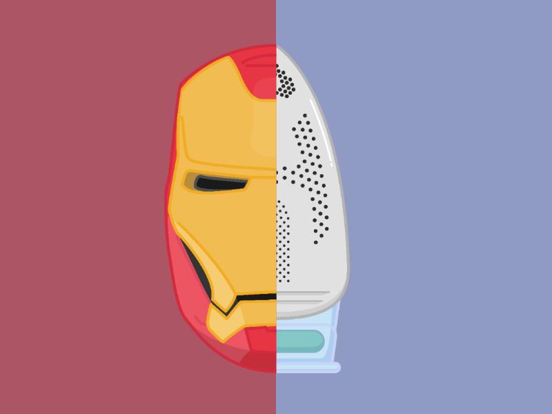 The Ironest of Men superhero marvel civil war endgame avengers iron man sticker minimal flat vector