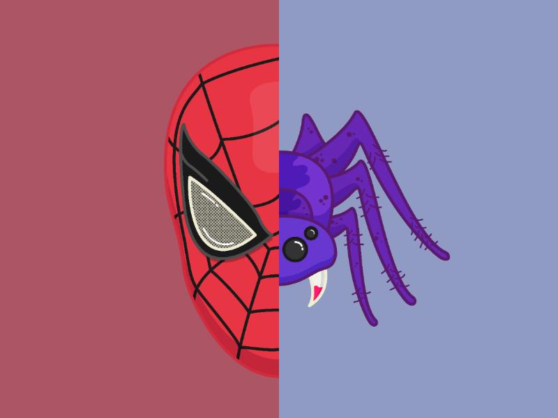 The Spideriest of Men peter parker webslinger superhero spidey endgame avengers spiderman sticker illustration flat vector