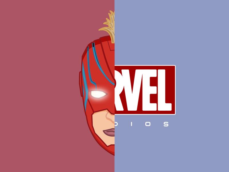 The Marvellest of Captains marvel comics marvel brie larson captain marvel superhero endgame avengers flat sticker minimal icon outline illustration vector