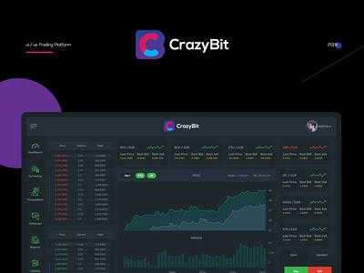 Branding logo web platform trading ui ux design
