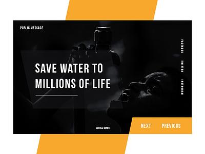 Public Message web concept adobe illustrator adobe photoshop color full water web  design ui ux design
