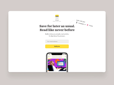 Alfread: Read-it-later app pocket app read later instapaper news productivity reading ios app