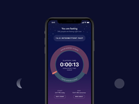 Zero Fasting App v2: Day & Night health ui ux iphone animation interaction dark mode mobile app ios timer night