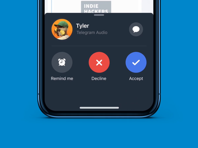 Telegram Voice Calling interaction messaging social ios app mobile voice call calling messenger mobile design mobile app