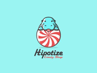 Hipotize sweet children child cute candy shop animal love hippopotamus shop candy love animal