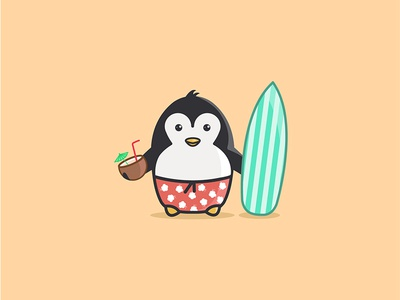 Pingu 1 suit swimming fun cutie lovely happiness happy funny cute hot summer penguin