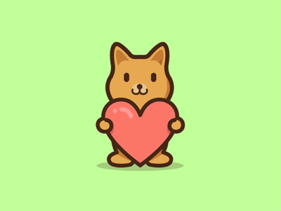 Love Puppi funny fun cuteface lovely animal stickermule heart giving cute love puppy dog