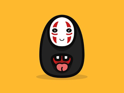 No Face Spirited Away By Larry On Dribbble