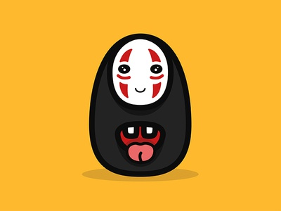 Spirited Away - No Face no face anime teeth mouth studio ghibli anime movies fun lovely love cute character movie spirited away