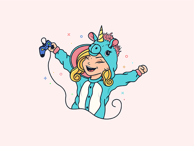 Kelsey Onesie Final1 avatar youtuber youtube unicorn illustration lovely character happy funny fun love animal cute