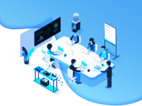 Isometric Scheduling Illustration