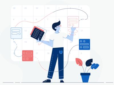 Scheduling Dashboard Illustration