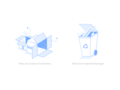 Dashboard Housekeeping Illustrations vector art vector web icon web icons icons lost and found blue single color fly illustration web illustration website illustration line art recycle bin garbage box line illustrations
