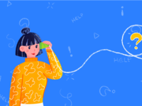 String Telephone Girl double shot yellow blue creativity creative art pattern question mark help telephone color cups illustration textured illustration 2d art vector art happy colorful girls string phone