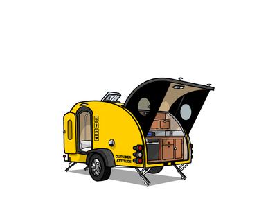 SCdF teardrop trailer