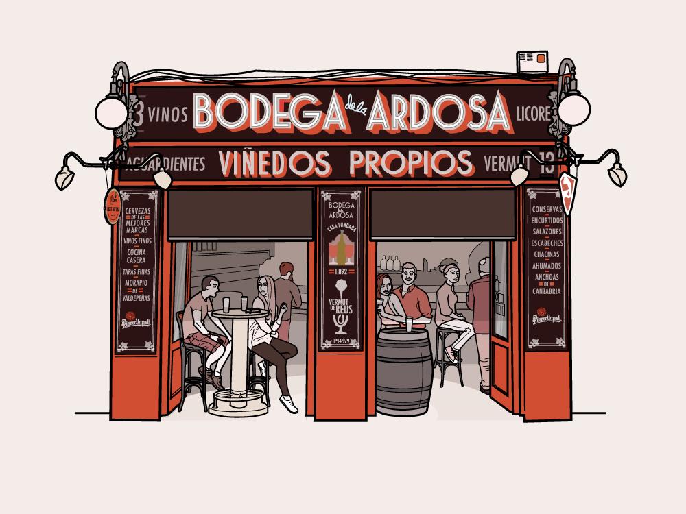 Bodega De La Ardosa Madrid Places By Fredingrado Dribbble Dribbble