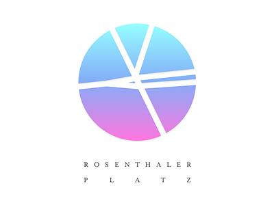 Rosenthaler Platz gradient serif type logo place berlin