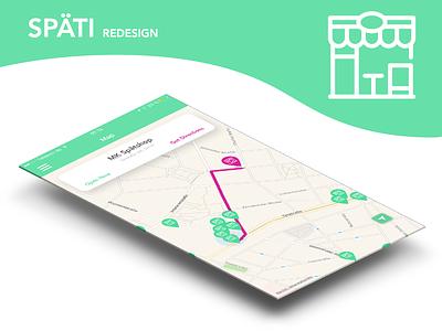 Späti - Berlin Redesign interaction ios map ui app späti berlin