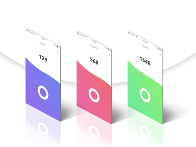 Game Concept circle gradient tapping ui game