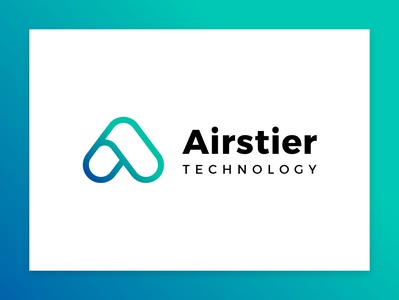 logo for airstier logo design icon typography tech startup corporate identity corporate design branding logo