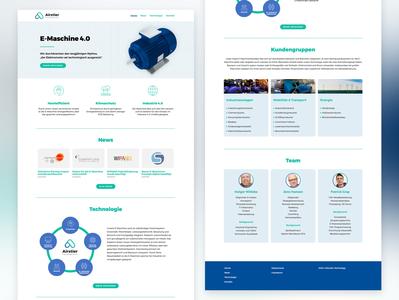 website for airstier elementor responsive screendesign wordpress startup ux ui interaction design webdesign website