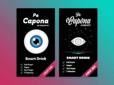 packaging for pa capona logo type typogaphy graphic design packaging design drink packaging