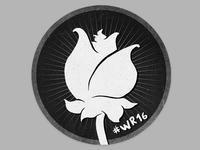 """""""Weiße Rose"""" Antifascist Movement Sticker"""