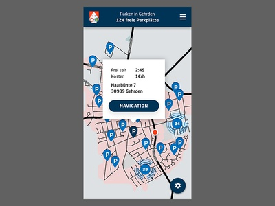 Parking manager for the city of Gehrden ui internetofthings iot mobile app smartcity parking