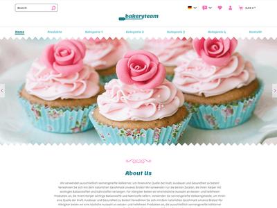 bakeryteam online shop branding interactive editorial webdesign interface ui shopware online shop ecommerce