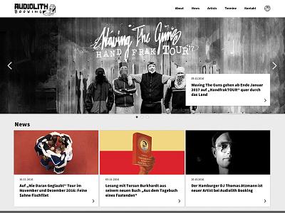 Audiolith Booking website screen design webdesign music booking interaction design ui website