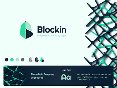 Blockchain Company Logo Design Idea branding wallet logo crypto logo crypto clean  creative creative design logo blockchain