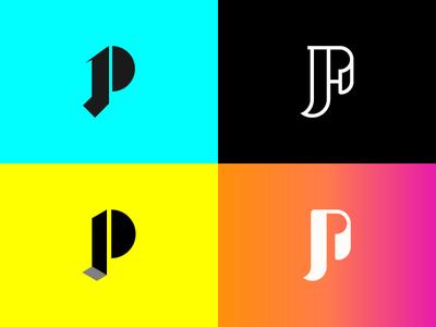 JP Logo Concept chracter icon flat clean  creative concept outline logo branding creative design logo j logo p logo print cmyk print logo