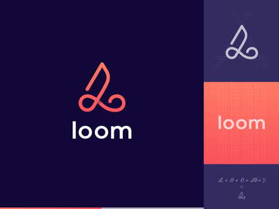 Loom Logo Idea circle infinity o logo video line logo loom l logo creative logo design