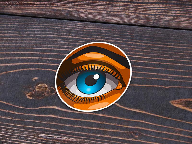 Eye See You illustration graffiti sticker eye