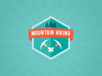 Achievement Badge for State Parks Department ui icon hiking mountain trophy reward badge achievement