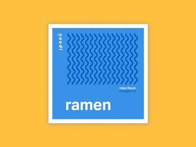 Ramen Noodle Packaging swiss minimal pattern abstract noodles packaging pasta