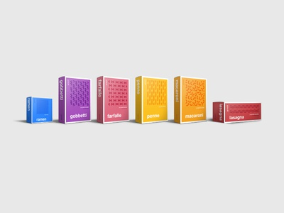Packaging for Line of Pastas swiss minimal pattern abstract noodles packaging pasta