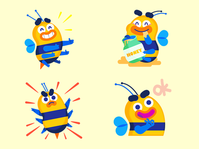Buzzy Stickers imessage character stickers ios