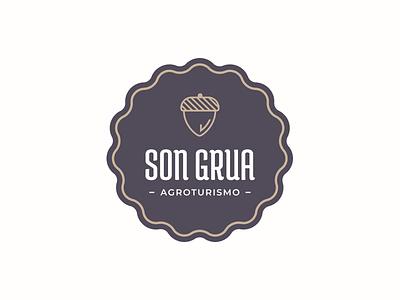 Son Grua - Logo typography nature logotype logo branding agrotourism