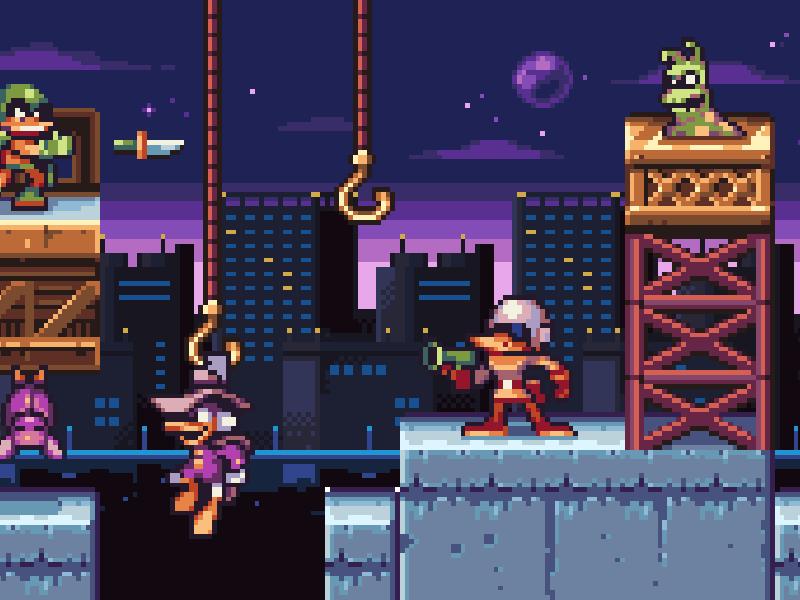 Cool Pixel Art Darkwing Duck By Dya Games On Dribbble