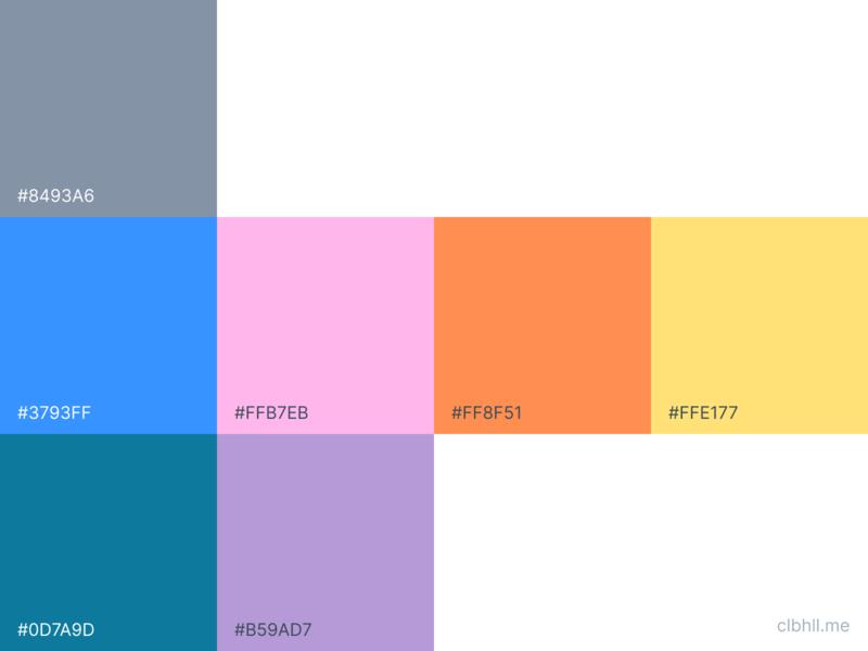 Color Heirarchy for clbhll.me ui  ux uiuxdesign ui designers ui designer design systems design system app design layout icon art direction logo uiux ui branding