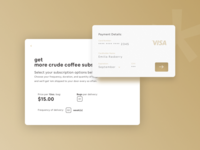 Crude Coffee - Subscription Checkout
